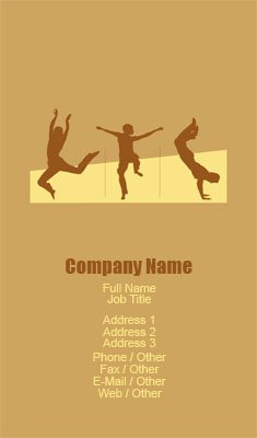 Orange and Yellow Dance Silhouette Business Card Template